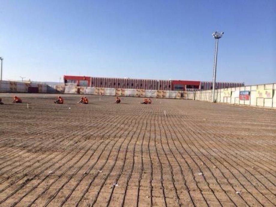 Eskişehirspor Tesisi Sahalarında Elektrikli Yerden Isıtma Sistemi 2014