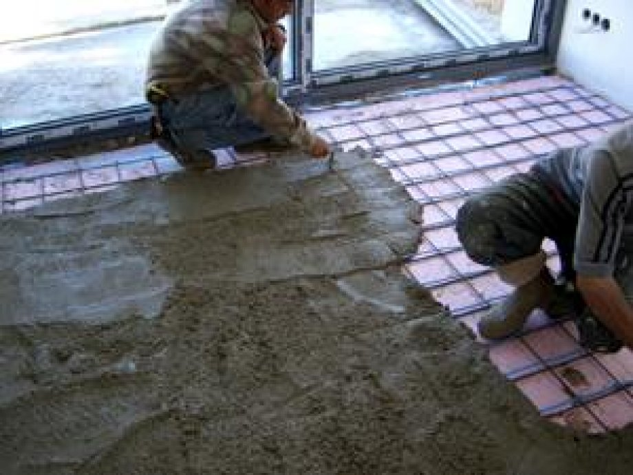 Floor heating in the Concrete Floor