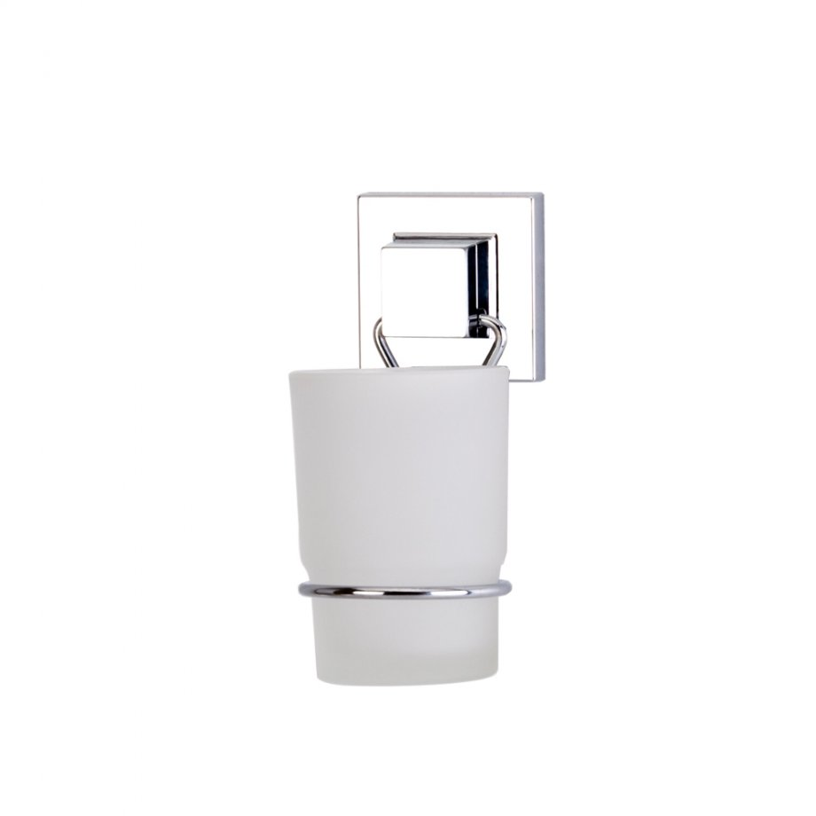 EF274 Self Adhesive Glass Toothbrush Holder