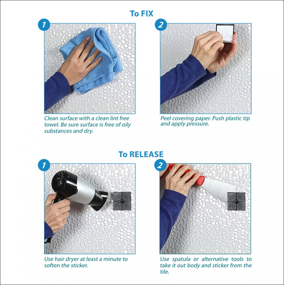 EF262 Self Adhesive Hair Dryer Holder