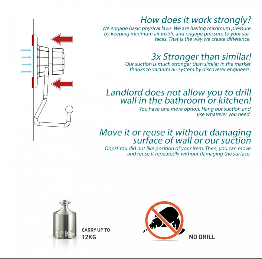 DM233 Suction Items (Towel Hanger) / Chrome