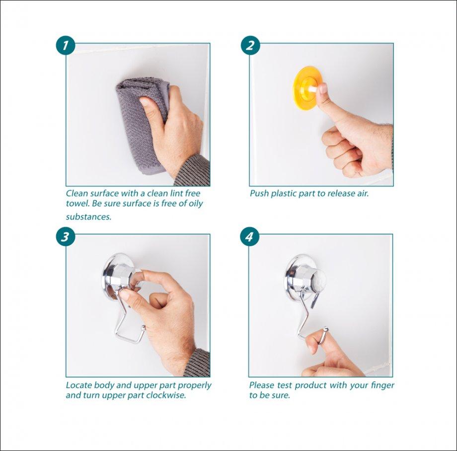 DM235 Suction Items (Towel Hanger) / Chrome