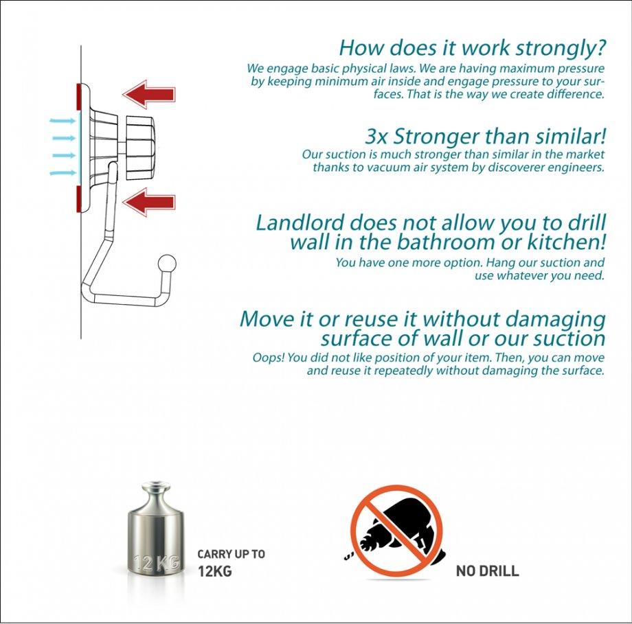 DM241 Suction Bath Shelf