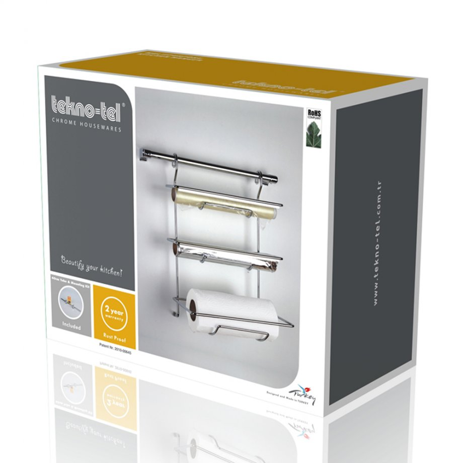 MG032 Foil and Paper Towel Dispenser with Chrome Tube