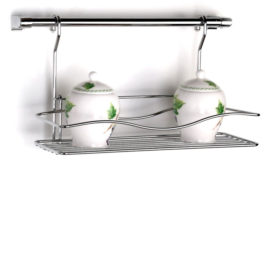 MG041 Spice Rack with 40 cm Rail / Chrome