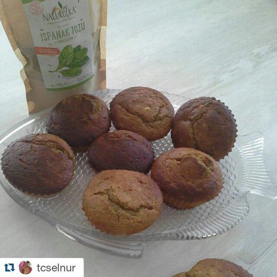 Ispanak Tozlu Muffin