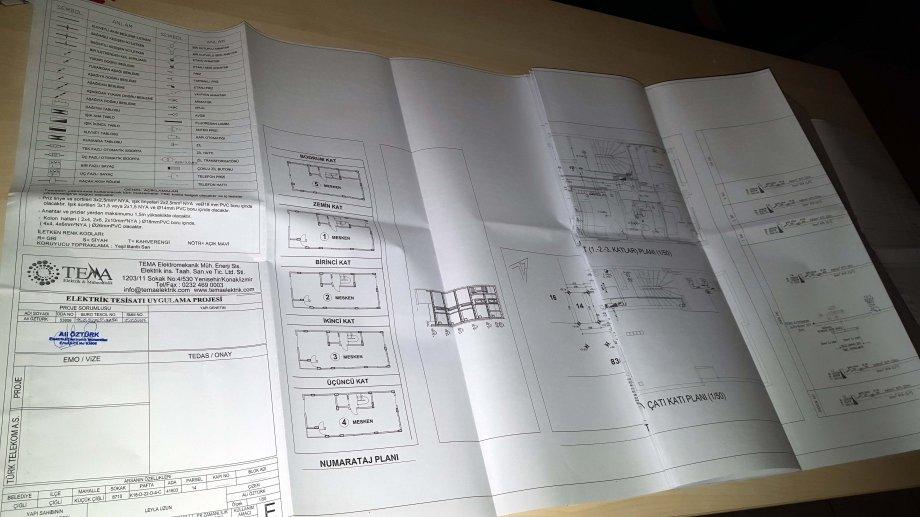 Çiğli/İzmir'de yapımı başlayacak olan konut işinin elektrik ruhsat projeleri tamamlanıp teslim edildi.