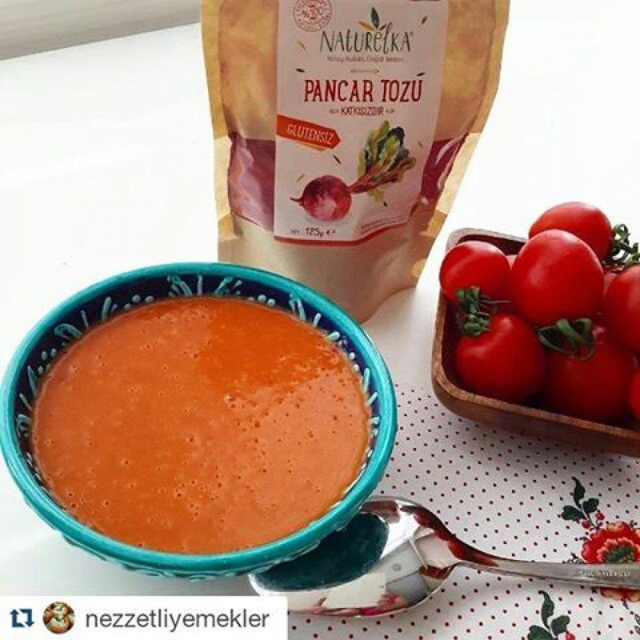 Pancar Tozlu Domates Çorbası