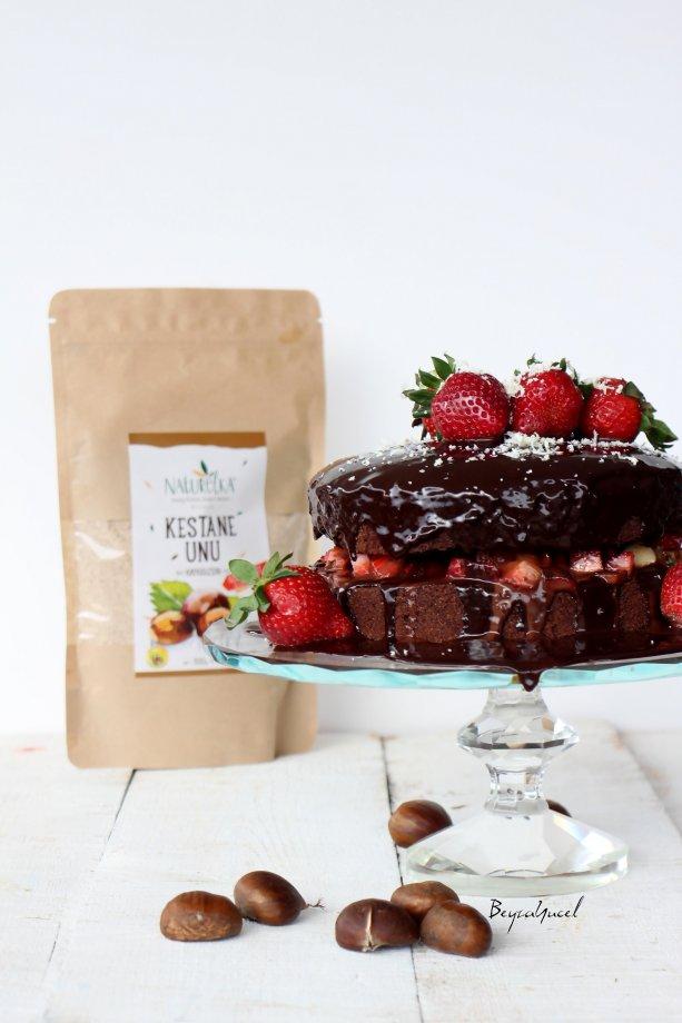 Kestane Unlu Çikolatalı Pasta