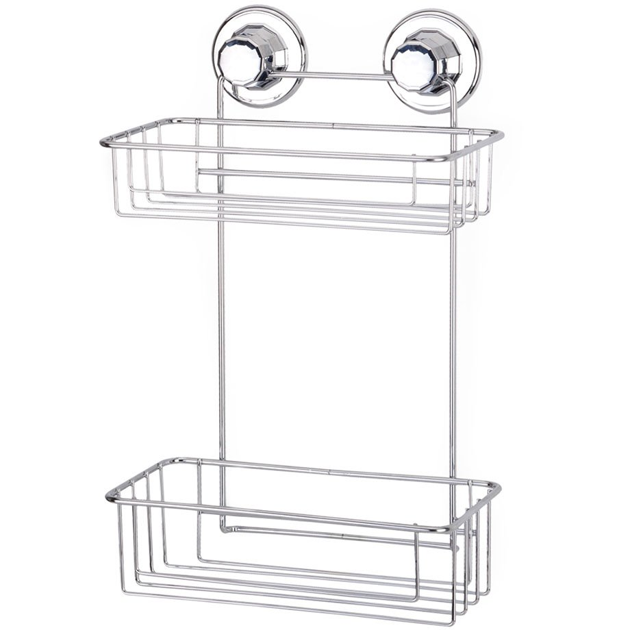 DM256 Suction Items (Bath Shelf Two Tiers) / Chrome