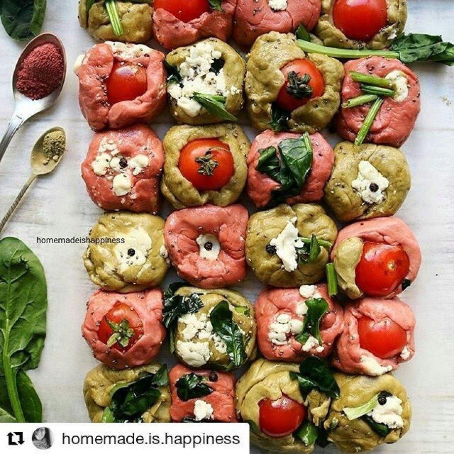 Renkli kahvaltı ekmekleri