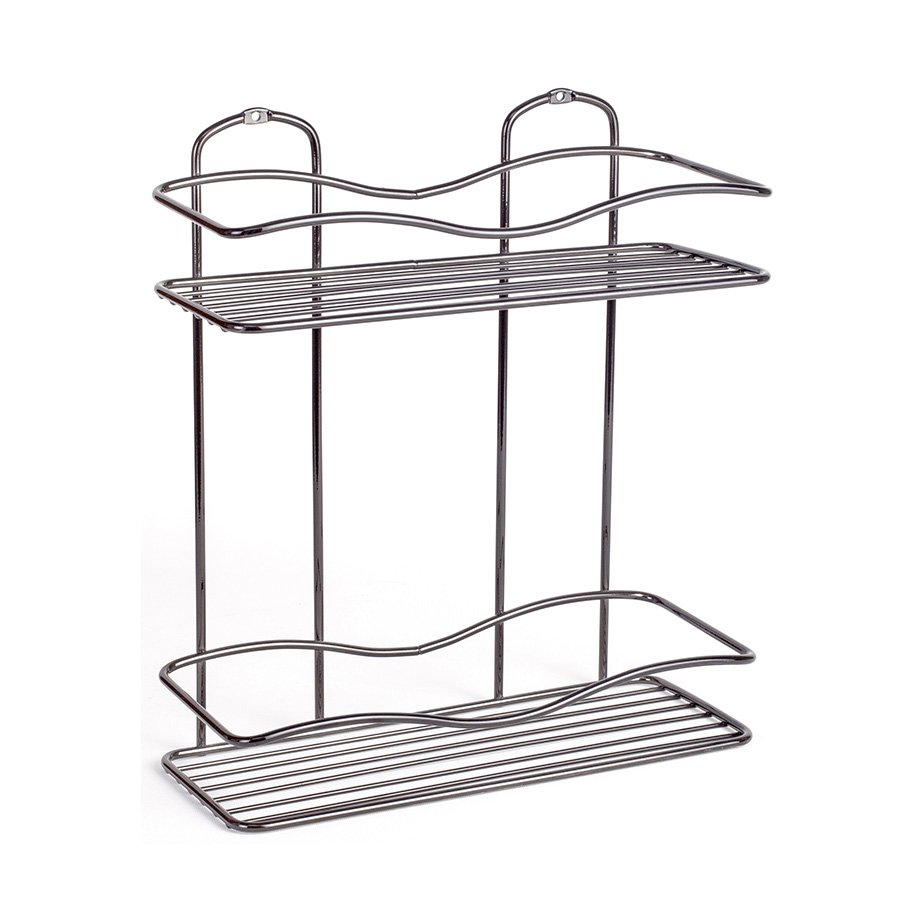 BK012B Bath Shelf Two Tiers 5 mm / Black Chrome