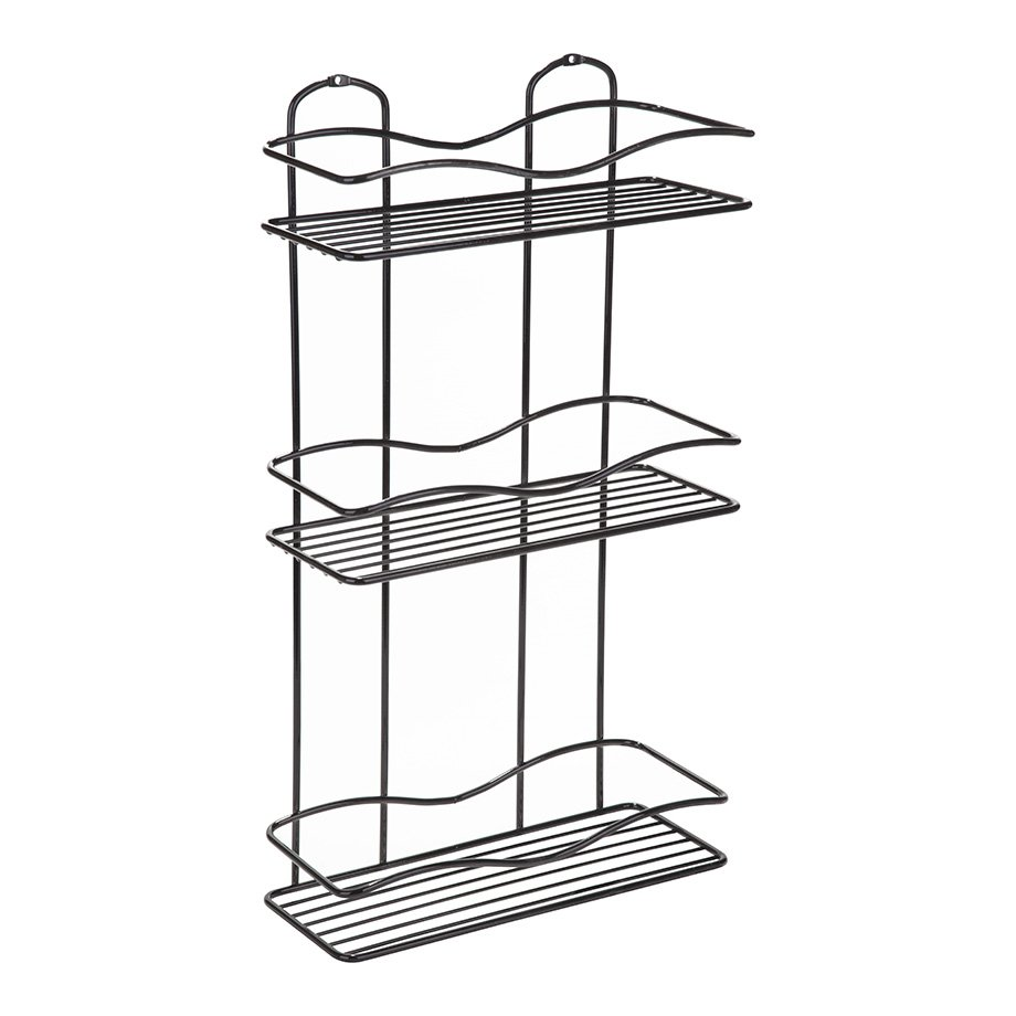 BK013B Bath Shelf Three Tiers 5 mm / Black Chrome
