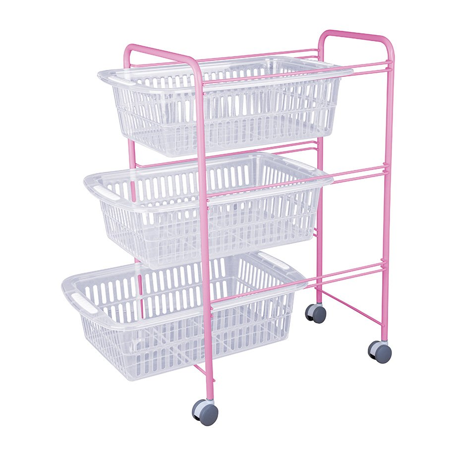 MG009 Basket Three Tiers / Powder Pink