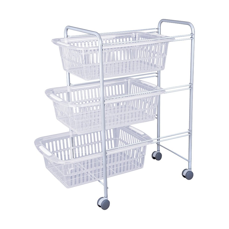 MG009W Basket Three Tiers / White