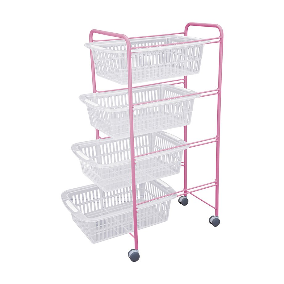 MG010 Basket Four Tiers / Powder Pink