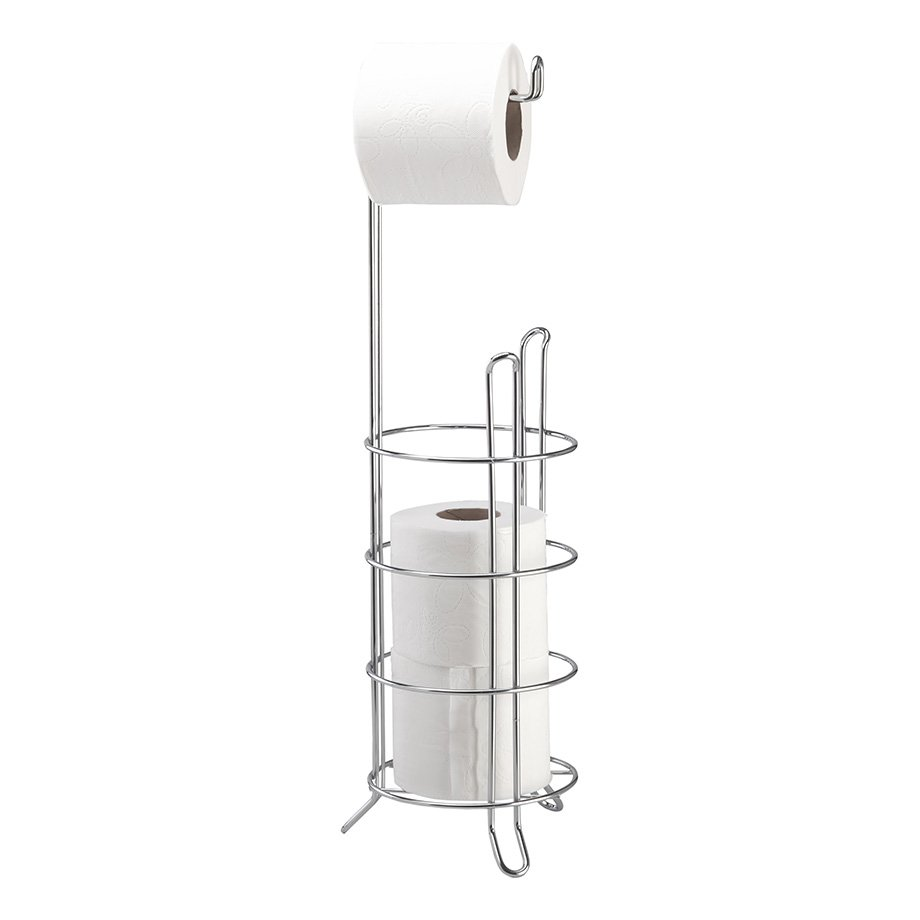 MG093 Toilet Paper Holder Stand and Reserve / Chrome
