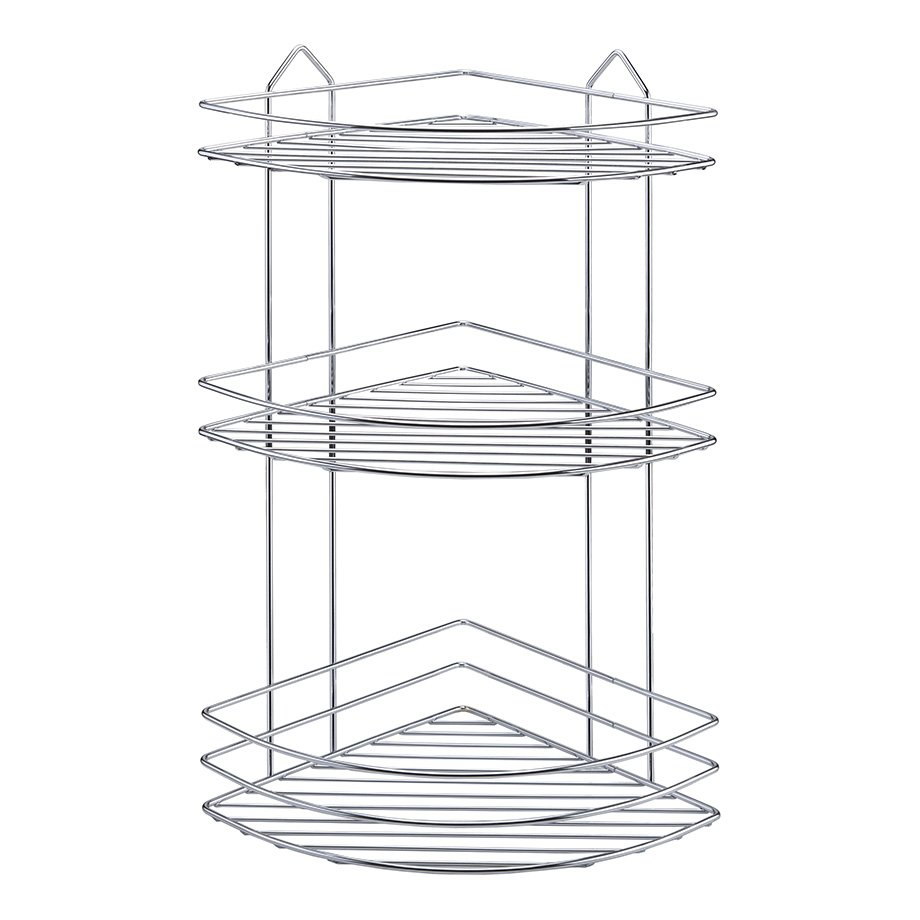 BK003 eco Bath Corner Shelf 3 Tiers 4mm / Chrome