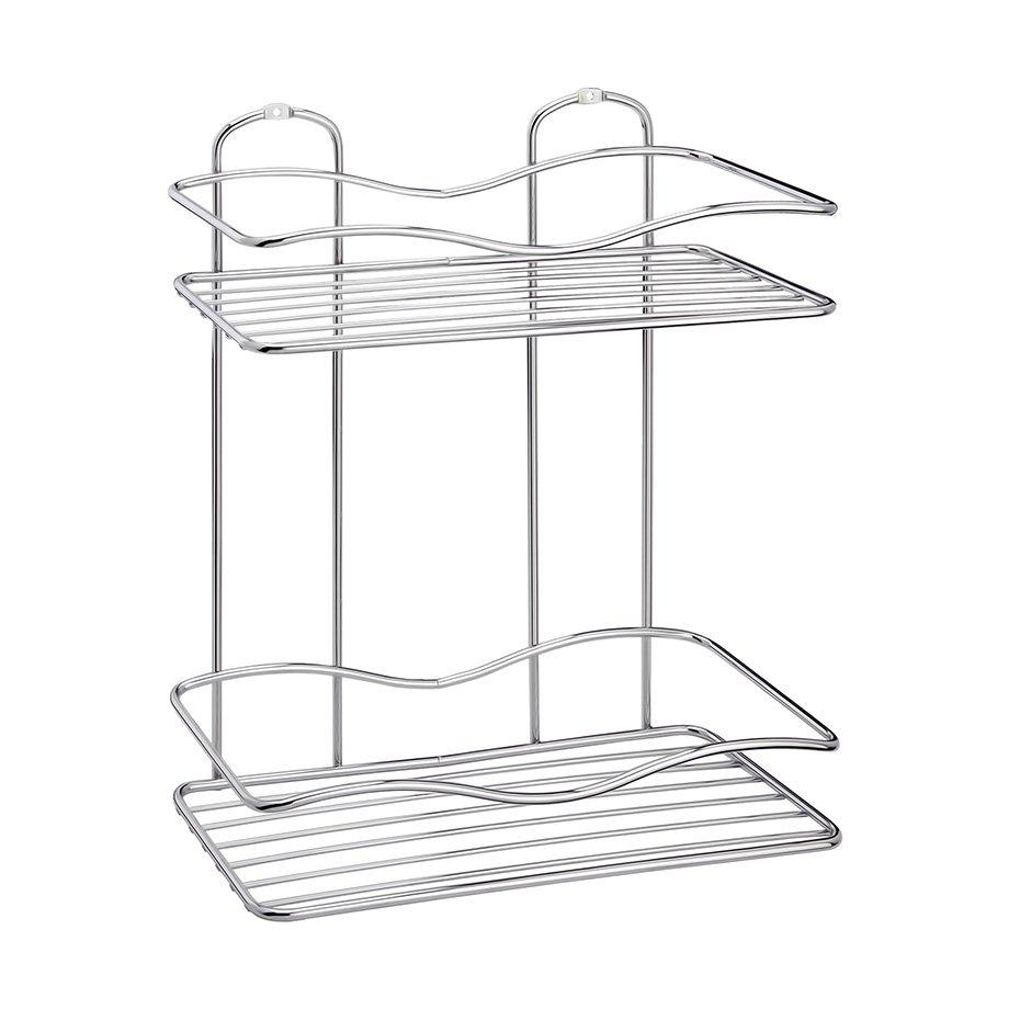 BK012 Bath Shelf Two Tiers 5 mm / Chrome