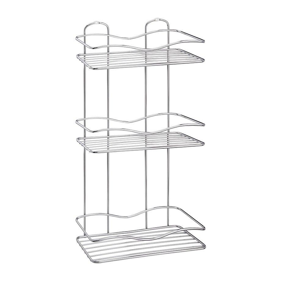 BK013 Bath Shelf Three Tiers 5 mm / Chrome