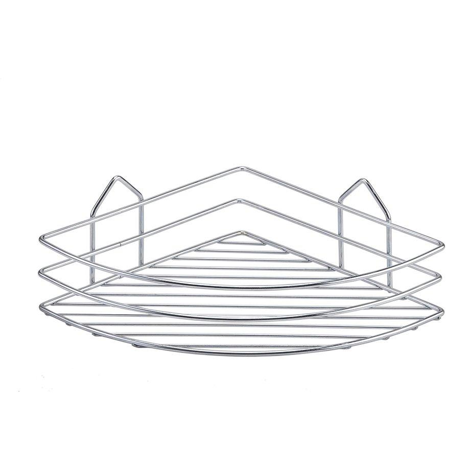 BK001 eco Bath Corner Shelf 4mm / Chrome