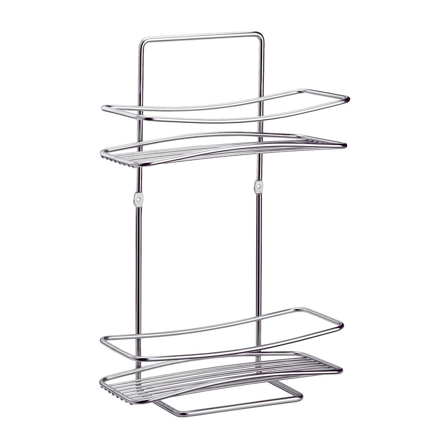 BK005 Bath Shelf Two Tiers 5mm / Chrome