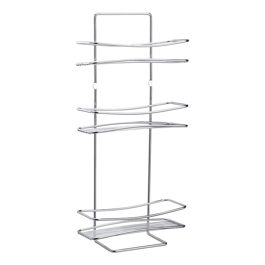 BK006 Bath Shelf Three Tiers 5mm / Chrome