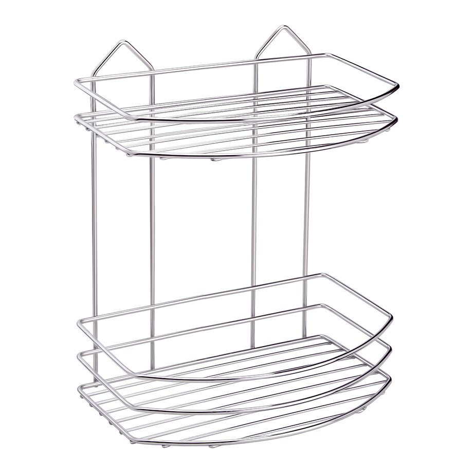 BK008 eco Bath Shelf Two Tiers 4mm / Chrome