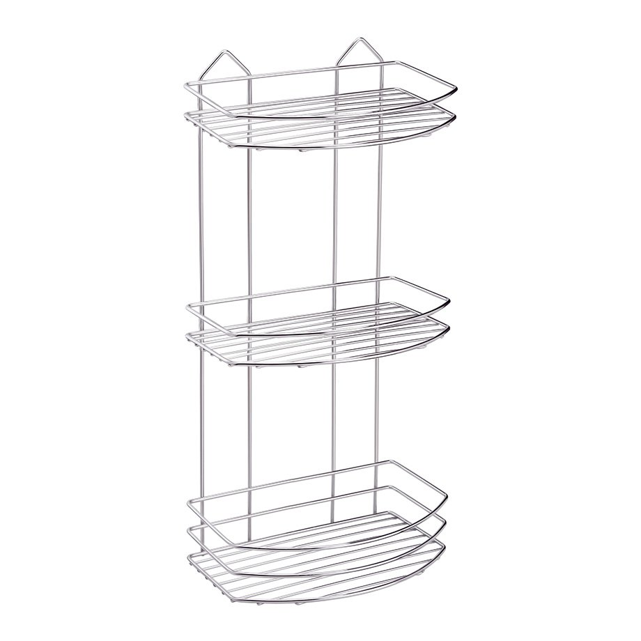 BK009 eco Bath Shelf Three Tiers 4mm / Chrome