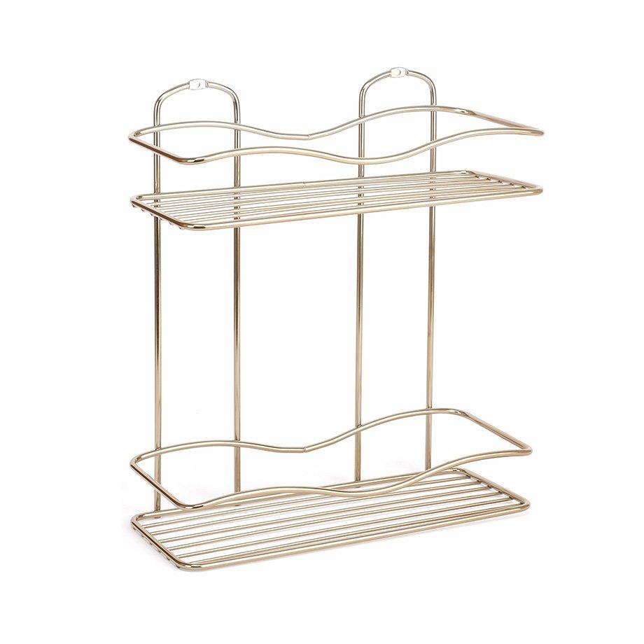 BK012G Bath Shelf Two Tiers 5 mm / Goldish