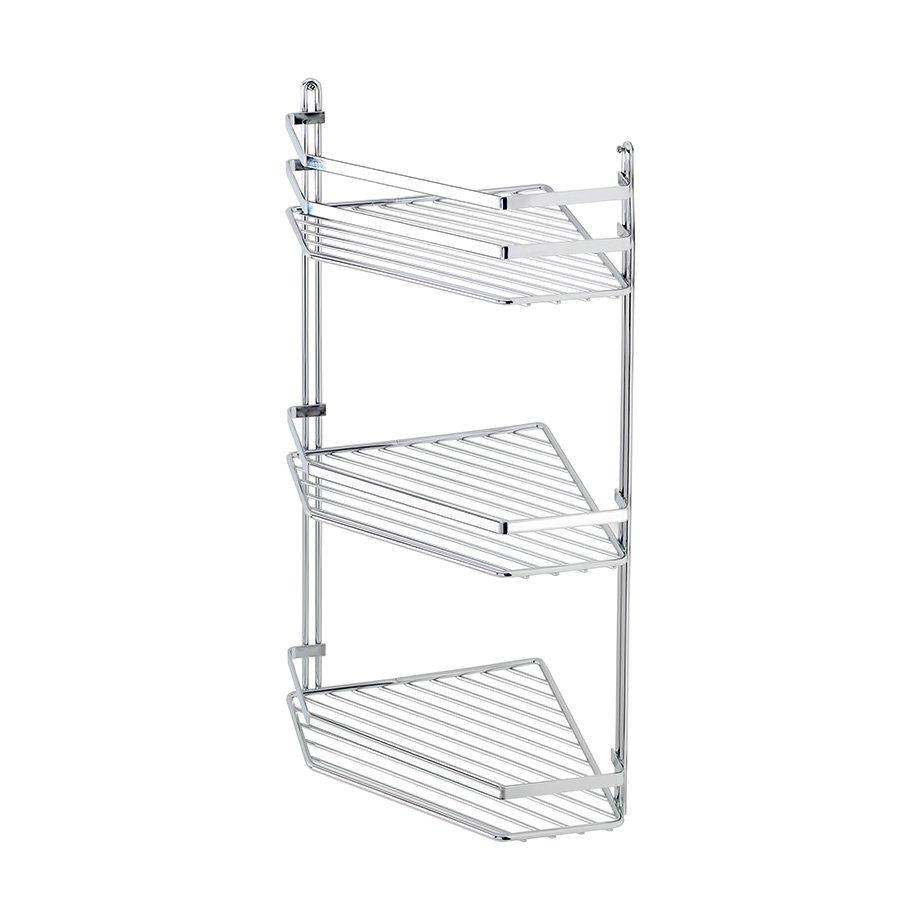 ES076 Bath Shelf Sheet Bar Three Tiers 5mm / Chrome