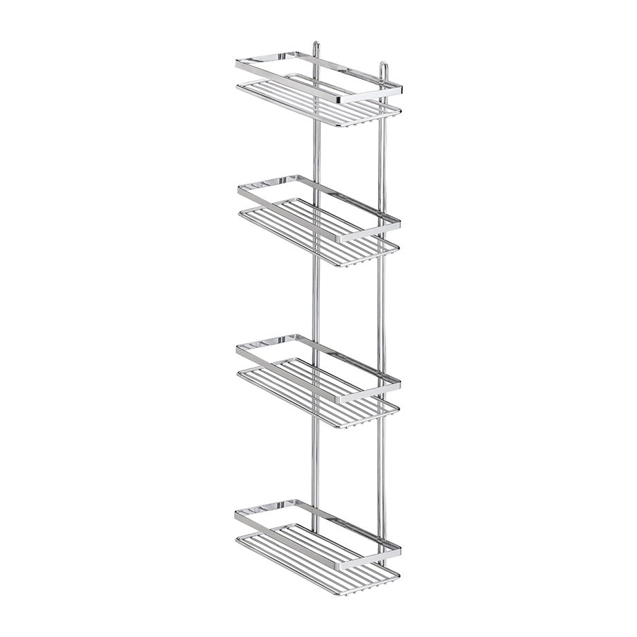 ES060 Bath Shelf Sheet Bar 4 Tiers 5 mm / Chrome
