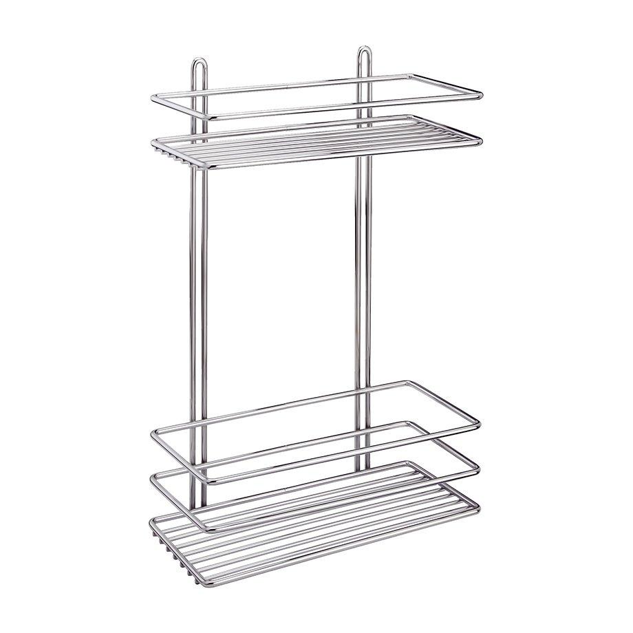LM005 Bath Shelf Sheet Bar 2 Tiers 5mm / Chrome