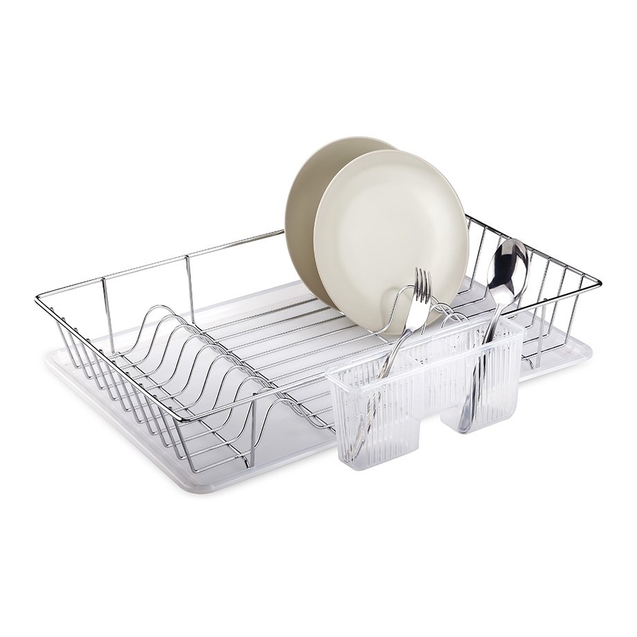 KB003 Dish Drainer  with Cutlery and Tray / Chrome
