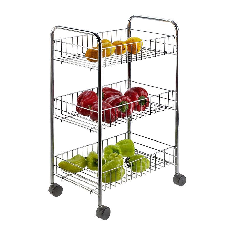 MG003 Basket Three Tiers, Foldable / Chrome