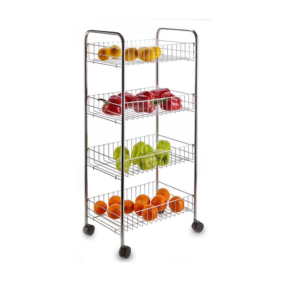 MG004 Basket Four Tiers, Foldable / Chrome