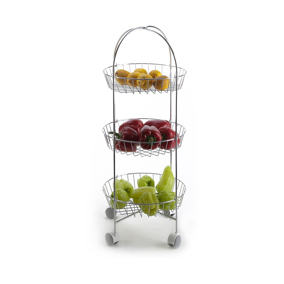 MG001 Basket Three Tiers, Foldable / Chrome