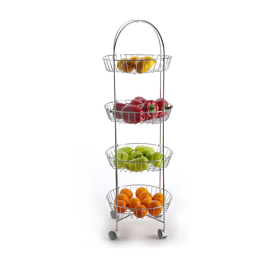 MG002 Basket Four Tiers, Foldable / Chrome