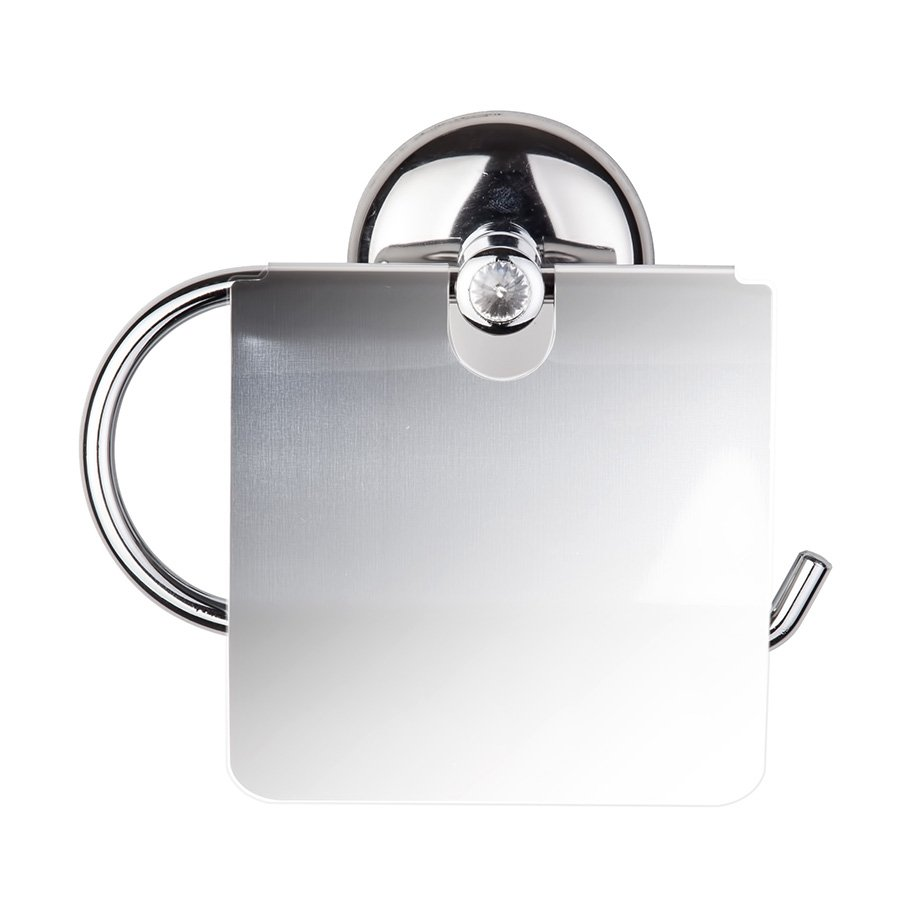 MG191 Toilet Paper Holder with Diamond Lid / Chrome
