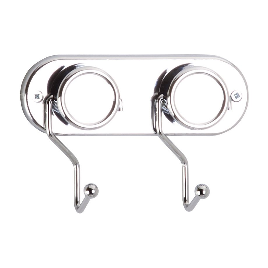 MG091 Towel Hanger with 2 Hooks / Chrome