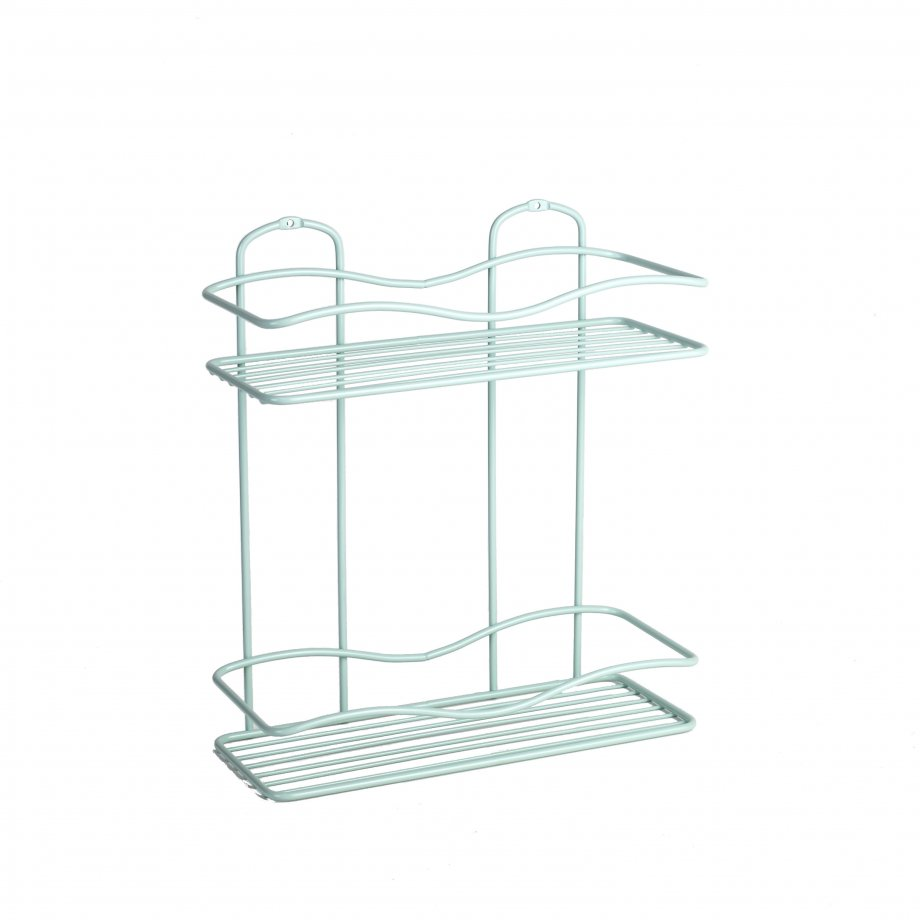 BK012 Bath Shelf Two Tiers 5 mm / Mint Green