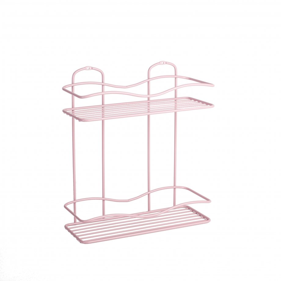 BK012 Bath Shelf Two Tiers 5 mm / Powder Pink