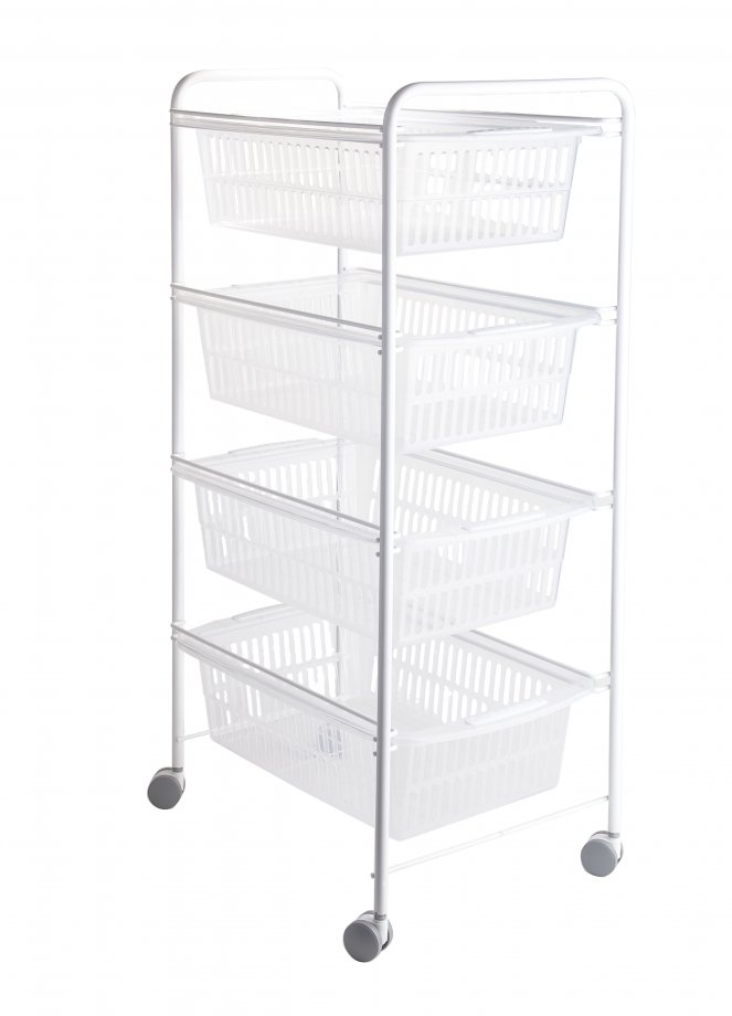 MG010W Basket Four Tiers / White