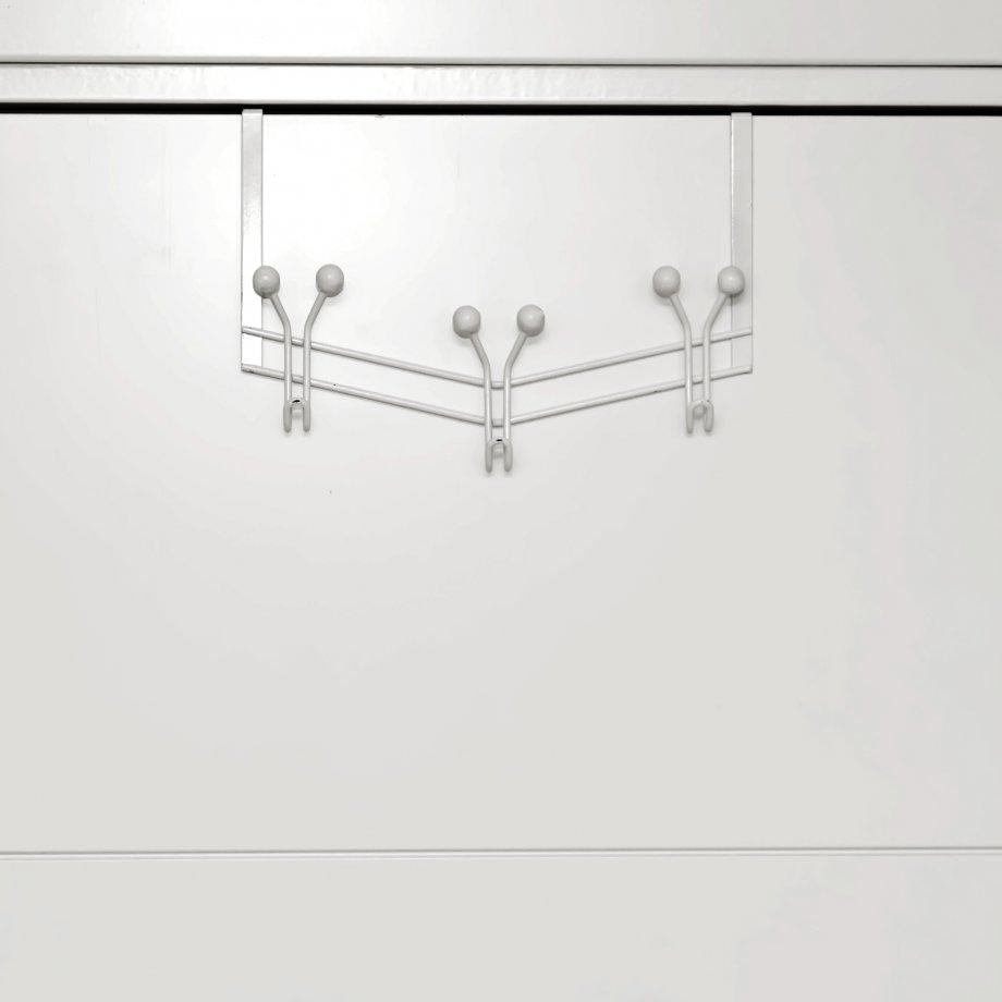 MG087W Over Door Hanger with Hooks / White