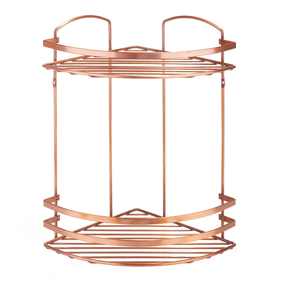 LM008C Bath Shelf Sheet Bar Two Tiers 5mm / Copper