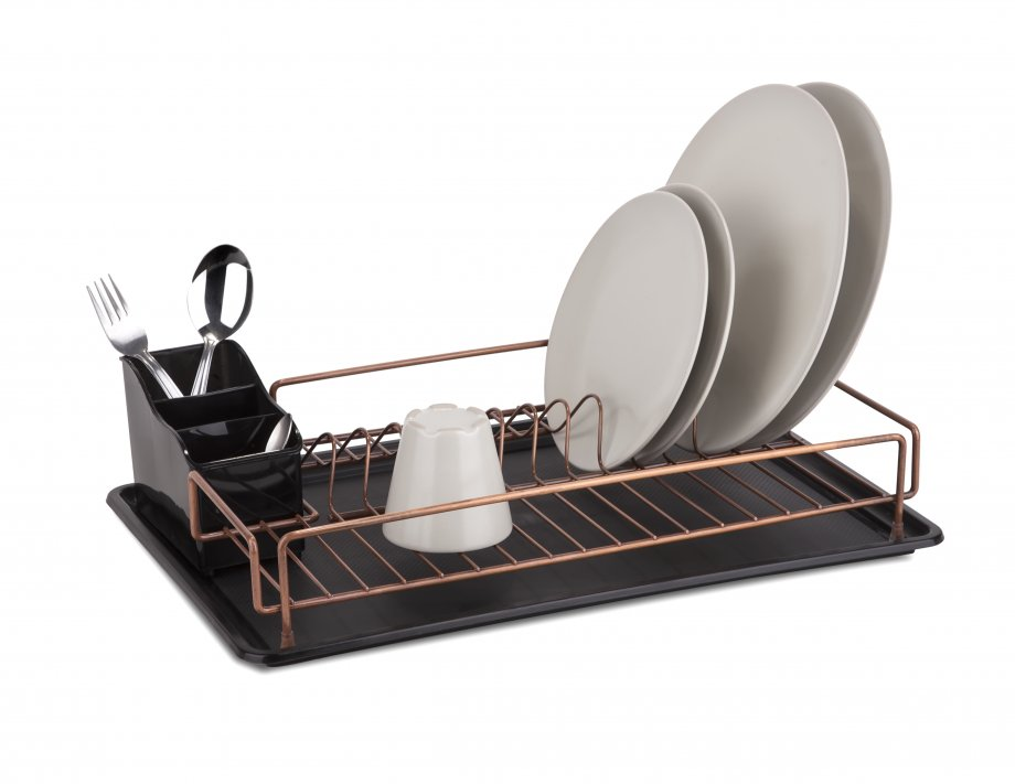 KB006C Dish Drainer with Cutlery and Tray / Copper