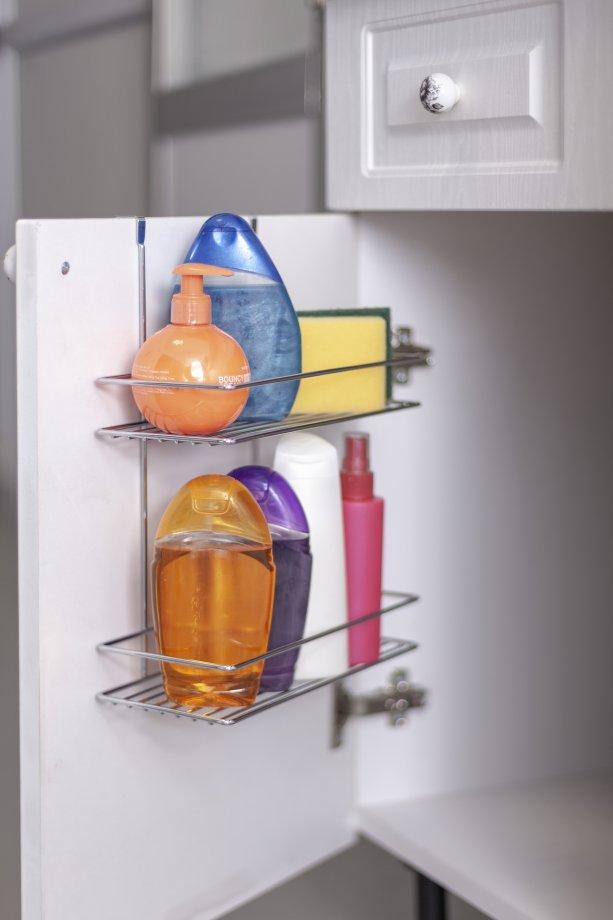 SF005 Over the Cabinet 2 Tier Shelf / Chrome
