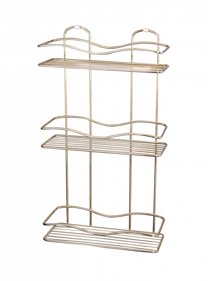 BK013G Bath Shelf Three Tiers 5 mm / Goldish