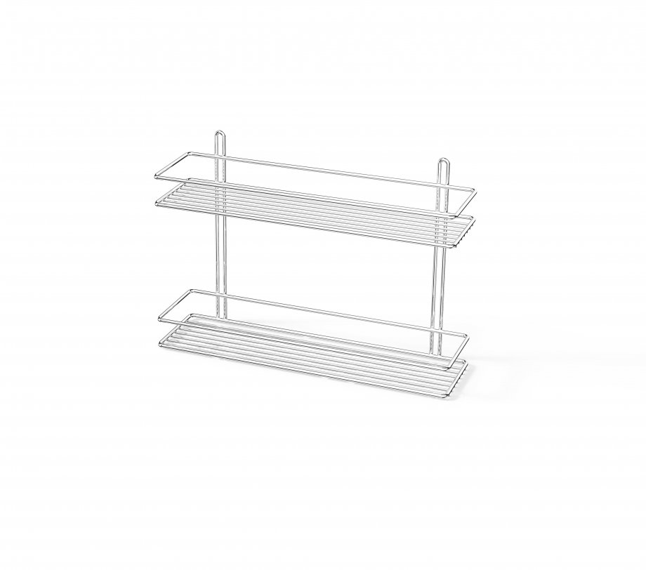 ES062 Bath Shelf 2 Tiers 5 mm / Chrome