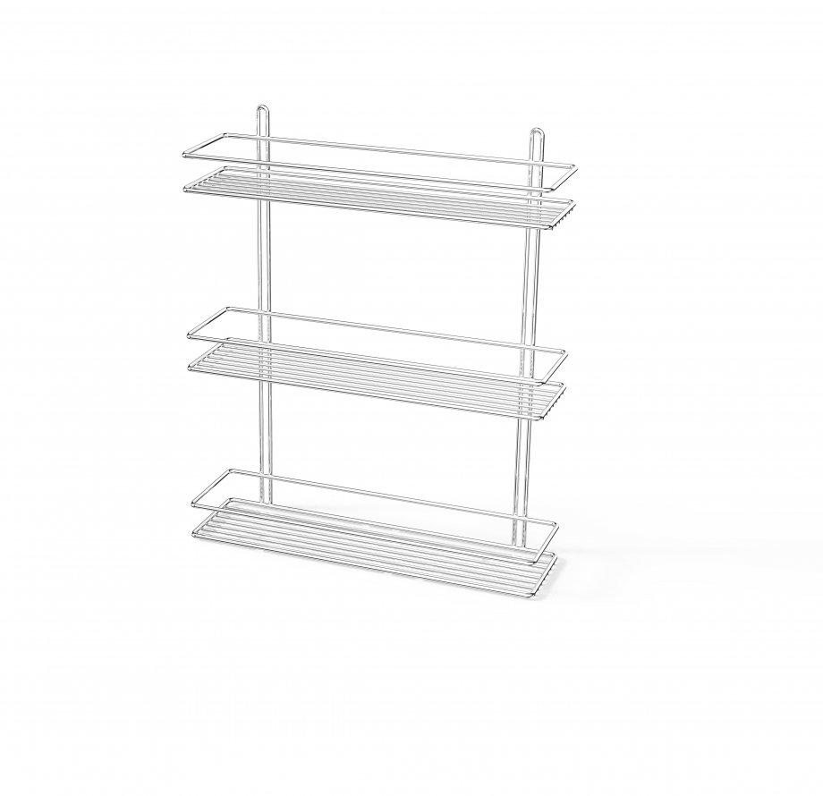 ES063 Bath Shelf 3 Tiers 5 mm / Chrome